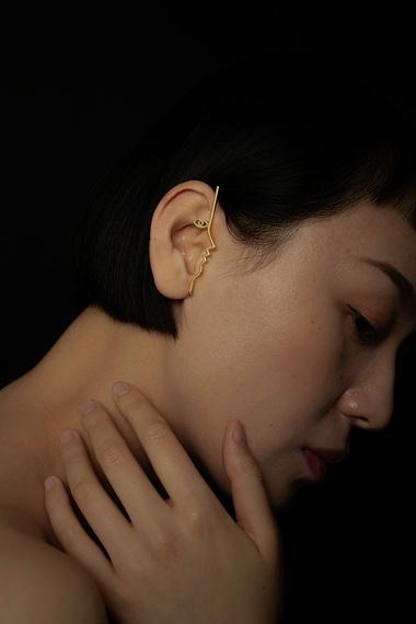 Dina Ear Cuff, Vermeil