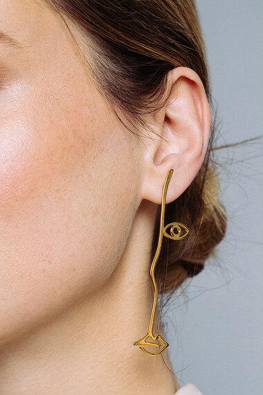 Surreal Earrings, Vermeil