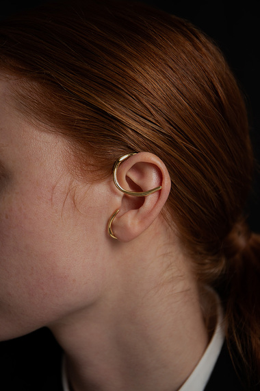 Oksa Ear Cuff, 18K Gold Vermeil