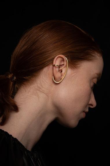Virta Ear Cuff, Vermeil