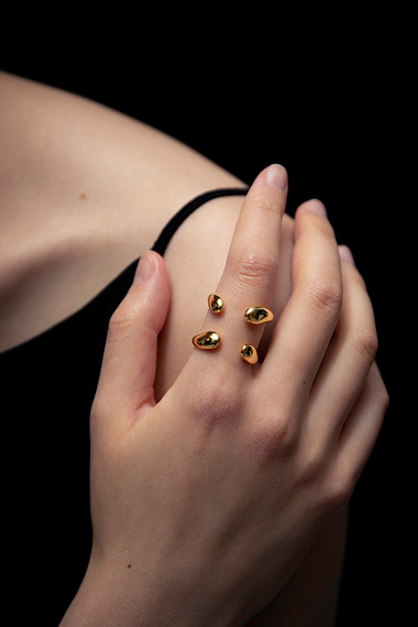 Double Ring, 18K Gold Vermeil