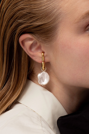 Pearl Drop Earrings, 18K Gold Vermeil