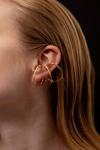 Triple Hoop Ear Cuff, 18K Gold Vermeil